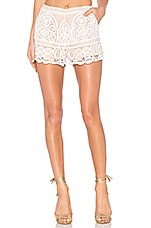 Blackjack Embroidered Shorts in White