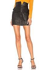 Aje Beaux Leather Mini Skirt in Black