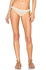 Seashore Lace Up Bikini Bottom in Taupe