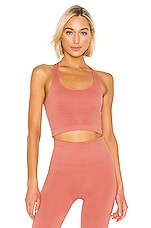 ALALA Seamless Crop Tank in Pink Sand