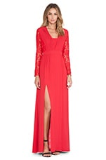 Long Macey Dress in Red