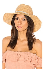 ale by alessandra Cody Hat in Natural & White