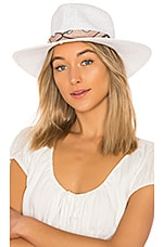 ale by alessandra Bailey Hat in White & Tan