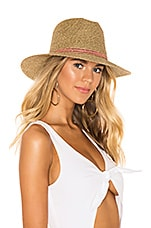 ale by alessandra Kenzie Hat in Antique Gold & Pink