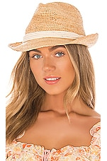 ale by alessandra Marin Fedora in Natural & White