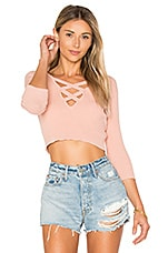 ale by alessandra x REVOLVE Leona Cropped Sweater in Rose Linen