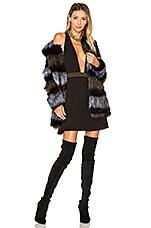 ale by alessandra x REVOLVE Antonella Faux Fur Coat in Black & Brown