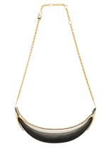 Minimalist Crescent Lucite Necklace in Black
