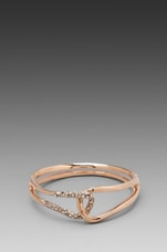 Liquid Rose Gold Interlocked Bracelet