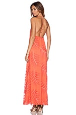 Kelly T Back Maxi Dress in Coral