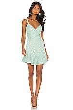 Alice + Olivia Rapunzel Mini Dress in Light Blue