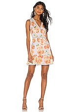 Alice + Olivia Kirean Mini Dress in Posy Garden, Dusty Orchid & Multi