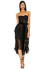 Alice + Olivia Bree Ruffle Dress in Black