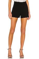Alice + Olivia Donald High Waist Shorts in Black