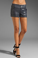 Cady Cuff Short in Navy/Silver