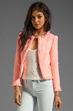 Alice + Olivia Kidman Open Front Box Jacket in Pink