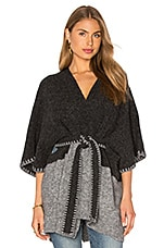 Rikkie Poncho en Charcoal & Light Grey