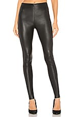 Alice + Olivia Maddox Leather Legging in Black