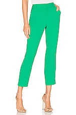 Alice + Olivia Stacey Slim Trouser in Mint Kelly