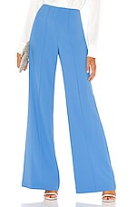 Alice + Olivia Dylan Clean Highwaist Wide Leg Pant in Cornflower