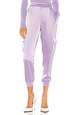 Alice + Olivia Dede Smocked Cargo Pant in Lavender