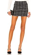 Alice + Olivia Elana Mini Skirt in Black & White