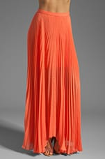 Alice + Olivia Shannon Pleated Maxi Skirt in Papaya