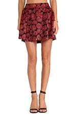 Fizer Box Pleat Skirt in Red Multi Floral