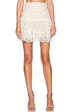 Jayce Drop Waist Skirt in Cream & Natural