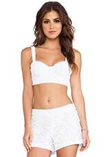 Azieb Crochet Lace Bra Top in White
