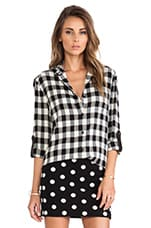Piper Button Down in Black & White