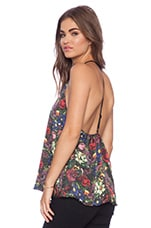 Guenda T Back Tank in English Floral