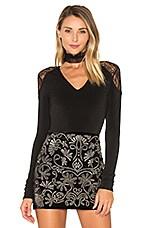 Nancey Lace Bodysuit in Black