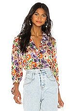 Alice + Olivia Sheila Blouse in Orchid Multi
