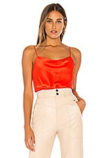 Alice + Olivia Harmon Bodysuit in Bright Poppy
