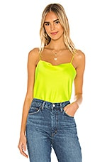 Alice + Olivia Harmon Tank in Neon Yellow