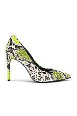 Alice + Olivia Creda Heel in Neon Yellow