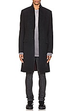 ALLSAINTS Burge Coat in Black & Charcoal