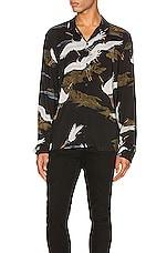 ALLSAINTS Yonder Long Sleeve Shirt in Jet Black