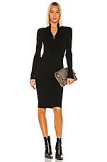 ALLSAINTS Lacey Rib Dress in Black