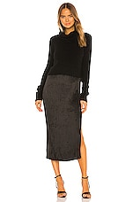 ALLSAINTS Ansel Heather Dress in Black & Ink