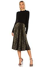 ALLSAINTS Leowa Dress in Black, Khaki & Green