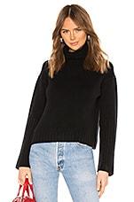 ALLSAINTS Hanbury Funnel Neck Cashmere Sweater in Black