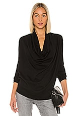 ALLSAINTS Remmy Cowl Neck in Black