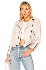 ALLSAINTS Balfern Biker Jacket in Powder Pink