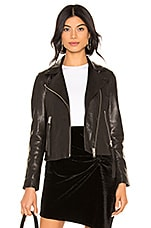 ALLSAINTS Dalby Leather Biker Jacket in Black