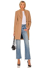 ALLSAINTS Leni Coat in Camel Brown
