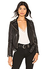 ALLSAINTS Balfern Leather Biker Jacket in Black