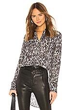 ALLSAINTS Keri Leopard Top in Ash Grey