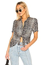 ALLSAINTS Sirena Feline Top in Black